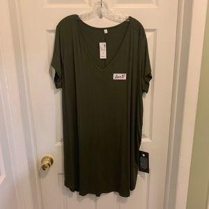 Lovesick Love Mini T-Shirt Tunic Dress 3x NWT